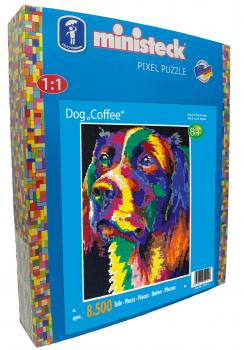 "ministeck ART das ORIGINAL - Hund ""Coffee"" XXL-Box"