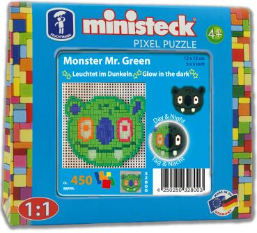 "ministeck das ORIGINAL ""Glow in the dark"" Monster Mr. Green"