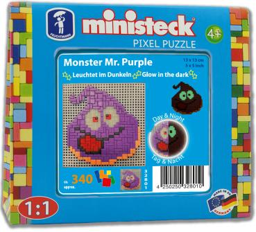 "ministeck das ORIGINAL ""Glow in the dark"" Monster Mr. Purple"