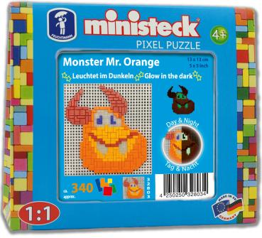 "ministeck das ORIGINAL ""Glow in the dark"" Monster Mr. Orange"